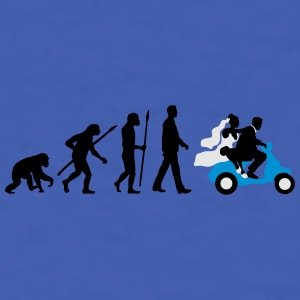 evolution_of_man_wedding_scooter_b3c Mugs & Drinkware - Men's T-Shirt