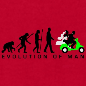 evolution_of_man_wedding_scooter_c3c Mugs & Drinkware - Men's T-Shirt by American Apparel