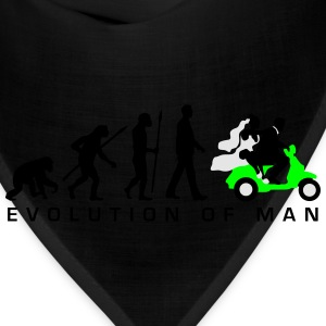 evolution_of_man_wedding_scooter_c3c Mugs & Drinkware - Bandana