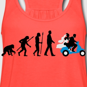 evolution_of_man_wedding_scooter_b3c T-Shirts - Women's Flowy Tank Top by Bella