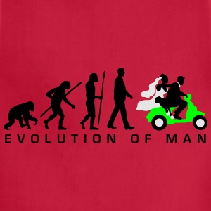 evolution_of_man_wedding_scooter_c3c T-Shirts - Adjustable Apron
