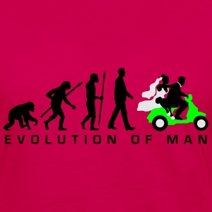 evolution_of_man_wedding_scooter_c3c T-Shirts - Women's Premium Long Sleeve T-Shirt