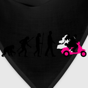 evolution_of_man_wedding_scooter_a3c T-Shirts - Bandana