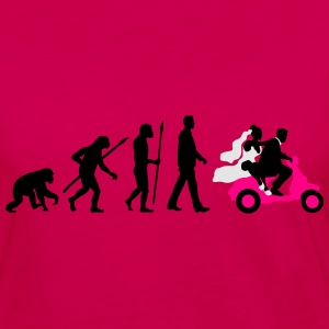 evolution_of_man_wedding_scooter_a3c T-Shirts - Women's Premium Long Sleeve T-Shirt