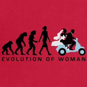 evolution_of_woman_wedding_scooter_c3c Mugs & Drinkware - Adjustable Apron