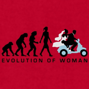 evolution_of_woman_wedding_scooter_c3c Mugs & Drinkware - Men's T-Shirt by American Apparel