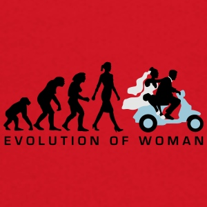 evolution_of_woman_wedding_scooter_c3c Mugs & Drinkware - Crewneck Sweatshirt