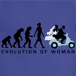 evolution_of_woman_wedding_scooter_c3c T-Shirts - Adjustable Apron