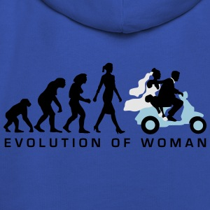 evolution_of_woman_wedding_scooter_c3c T-Shirts - Kids' Premium Hoodie