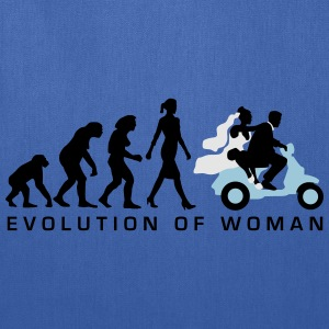 evolution_of_woman_wedding_scooter_c3c T-Shirts - Tote Bag