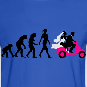 evolution_of_woman_wedding_scooter_a3c T-Shirts - Men's Long Sleeve T-Shirt