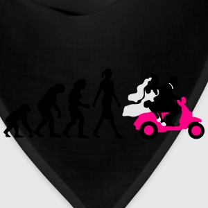 evolution_of_woman_wedding_scooter_a3c T-Shirts - Bandana