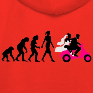 evolution_of_woman_wedding_scooter_a3c T-Shirts - Kids' Premium Hoodie