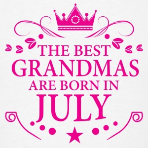 The Best Grandmas Are Born In July Long Sleeve Shirts - Men's T-Shirt