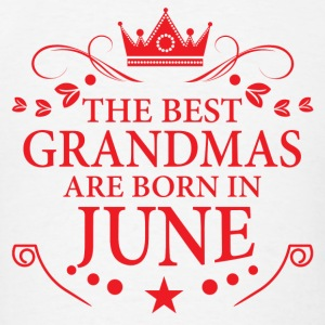 The Best Grandmas Are Born In June Long Sleeve Shirts - Men's T-Shirt
