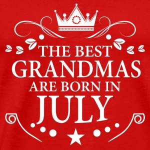 The Best Grandmas Are Born In July Long Sleeve Shirts - Men's Premium T-Shirt