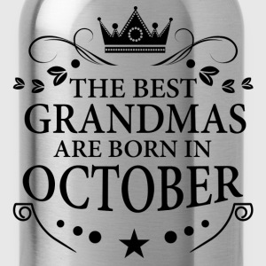 The Best Grandmas Are Born In October T-Shirts - Water Bottle