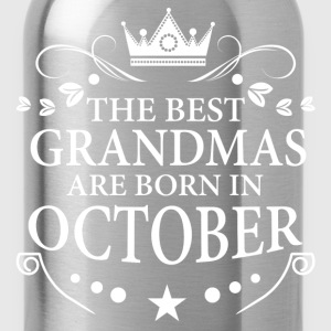 The Best Grandmas Are Born In October Long Sleeve Shirts - Water Bottle