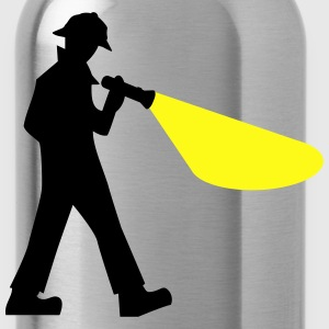 Detective with Flashlight - Water Bottle
