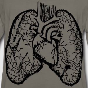 Lungs and heart - Men's Premium Long Sleeve T-Shirt