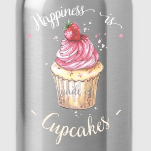 Cupcake - Happiness is made of cupcakes - Water Bottle