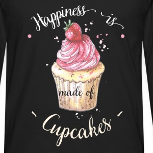 Cupcake - Happiness is made of cupcakes - Men's Premium Long Sleeve T-Shirt