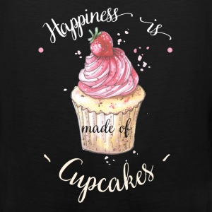 Cupcake - Happiness is made of cupcakes - Men's Premium Tank