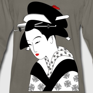 Asian Woman - Men's Premium Long Sleeve T-Shirt