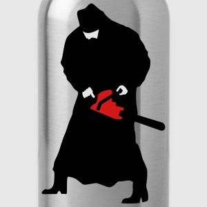 Priest with a chainsaw - Water Bottle