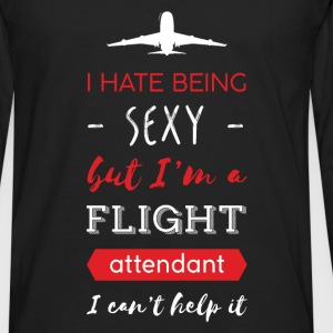 Flight attendant - I hate being sexy but I'm a fli - Men's Premium Long Sleeve T-Shirt