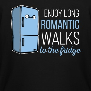Fridge -I enjoy long romantic walks. To the fridge - Men's Tall T-Shirt