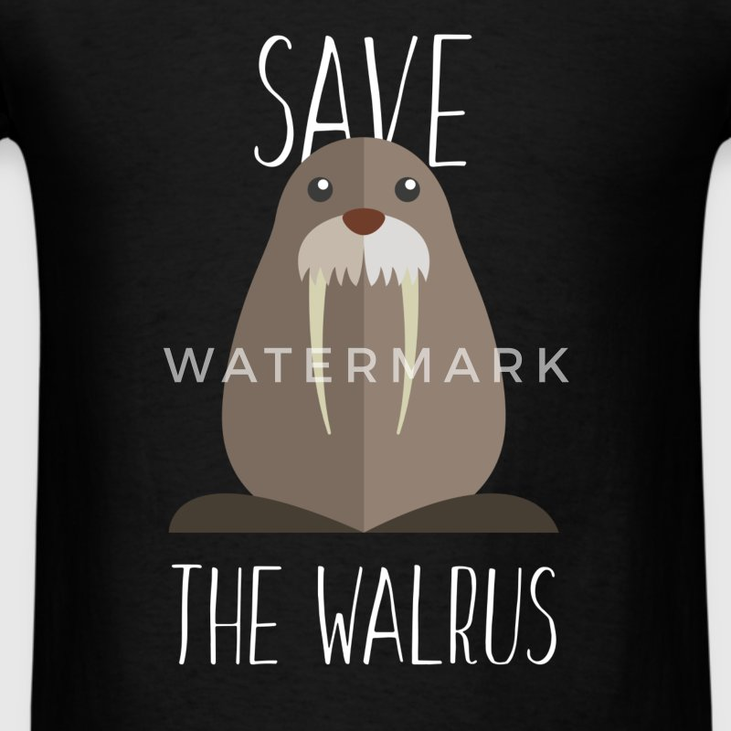 Walrus - Save the walrus - Men's T-Shirt