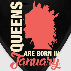 Born In January T-Shirts - Bandana
