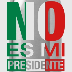 No Es Mi Presidente Caps - Water Bottle