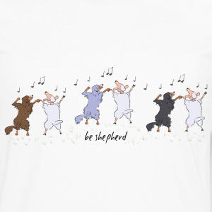 Australian Shepherd dancing with sheep T-Shirts - Men's Premium Long Sleeve T-Shirt