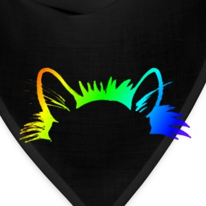 Rainbow Kitty Ears Womens Purple T-shirt - Bandana