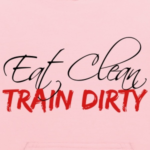 Train design eat clean train dirty text logo T-Shirts - Kids' Hoodie