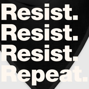 Resist Resist Resist Repeat T-Shirt - Bandana