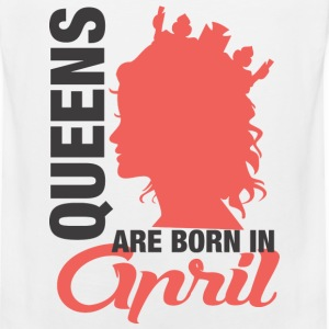 Queens Are Born In April T-Shirts - Men's Premium Tank