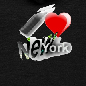 I Heart aka Love New York t shirt. - Unisex Fleece Zip Hoodie by American Apparel