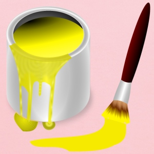 yellow paint with paint b - Kids' Hoodie
