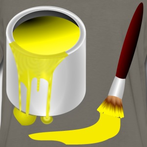 yellow paint with paint b - Men's Premium Long Sleeve T-Shirt