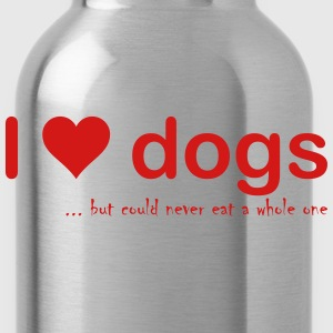 I love dogs - Water Bottle