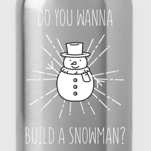 Snowman - Do you wanna build a snowman? - Water Bottle