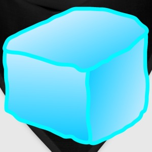 Bandana - block,cartoon,color,coloring,cube,cubes,food,food,ice,melting