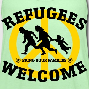 REFUGEES WELCOME T-Shirts - Women's Flowy Tank Top by Bella