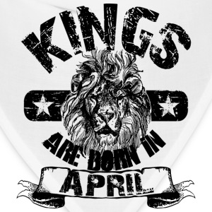 Kings Are Born In April T-Shirts - Bandana