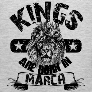 Kings Are Born In March T-Shirts - Men's Premium Tank