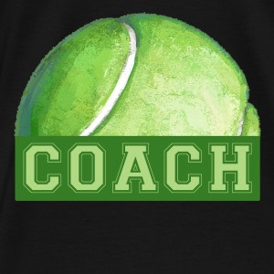 Tennis Coach Art Tote - Men's Premium T-Shirt