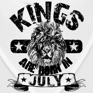 Kings Are Born In July T-Shirts - Bandana